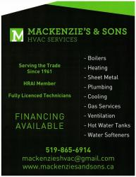 MacKenzie's and Sons HVAC and Plumbing Services